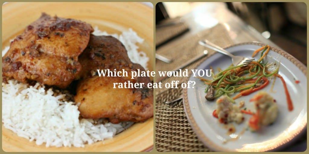full plate + leftovers