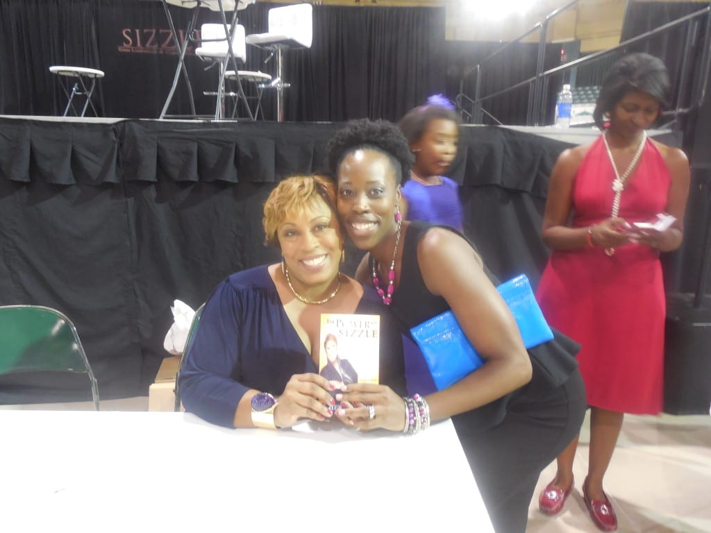 Cheryl Wood and I with her new book, The Power to Sizzle.