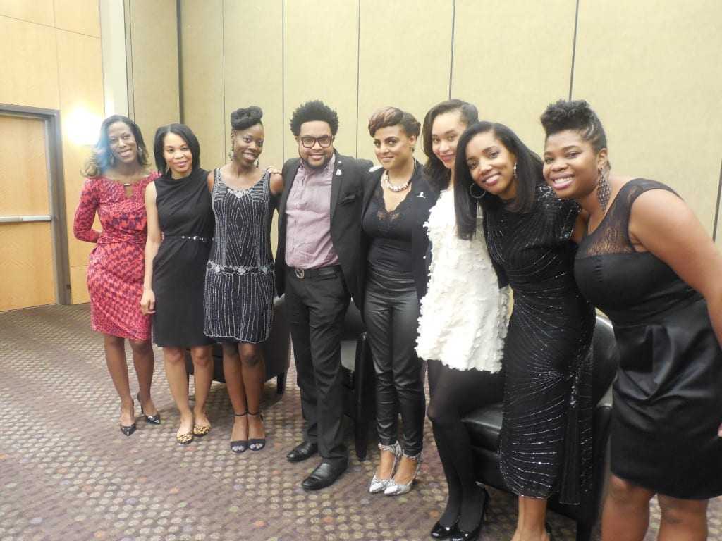 The media team after interviewing Marsha Ambrosius at St.Jude.