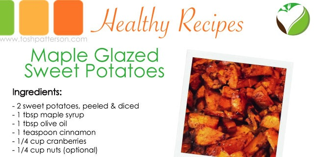 Maple Glazed Sweet Potatoes - Tosh Patterson