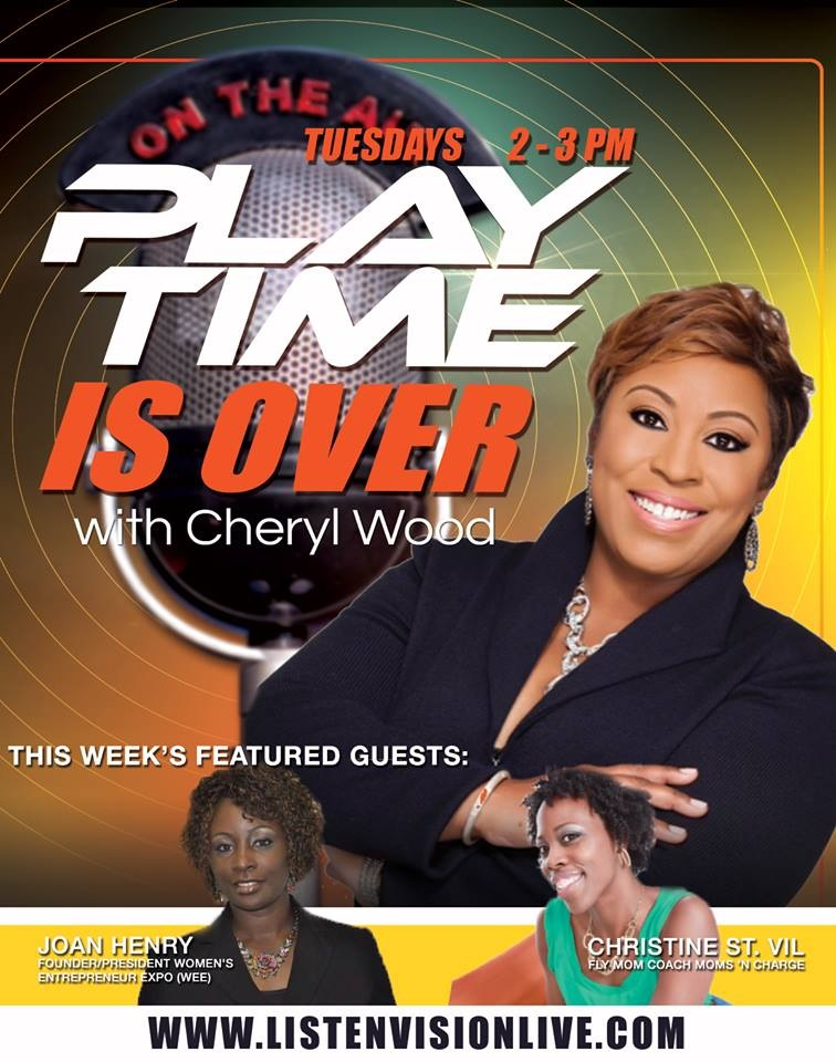 Cheryl Wood and Christine St.Vil - play time is over