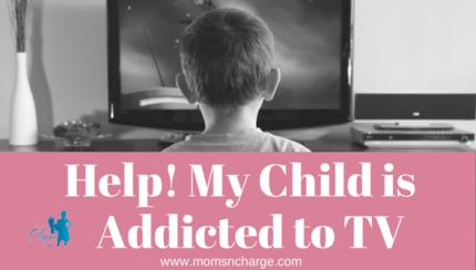 Child watching tv - addicted