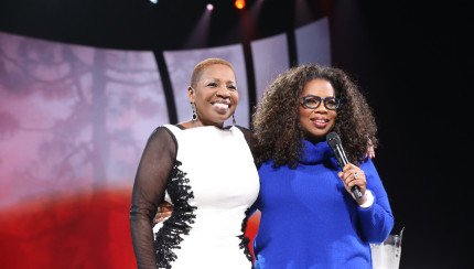 """Iyanla Vanzant, host of OWN's """"Iyanla: Fix My Life,"""" on stage during """"Oprah's The Life You Want Weekend"""" on Saturday, September 20, 2014 at the Verizon Center in Washington, D.C.   Courtesy of Harpo Studios, Inc. / George Burns"""