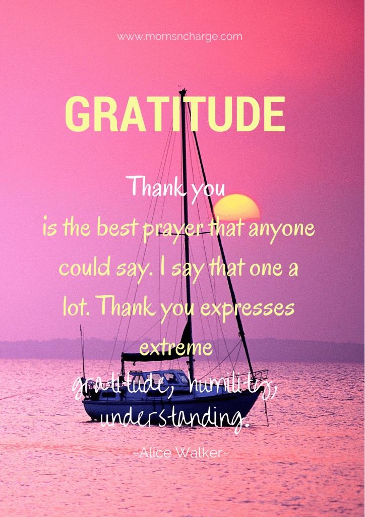 gratitude quote  Thanksgiving