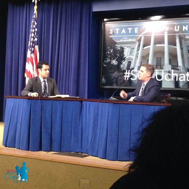 Sam Stein (left) and Dan Pfeiffer (right) during the #SOTUChat the followed immediately after the State of the Union Address