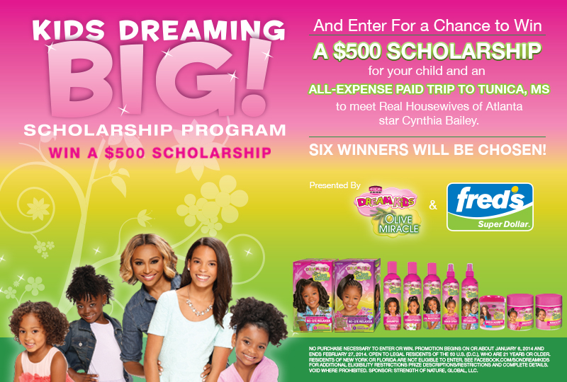 African Pride - kids dreaming big scholarship flyer