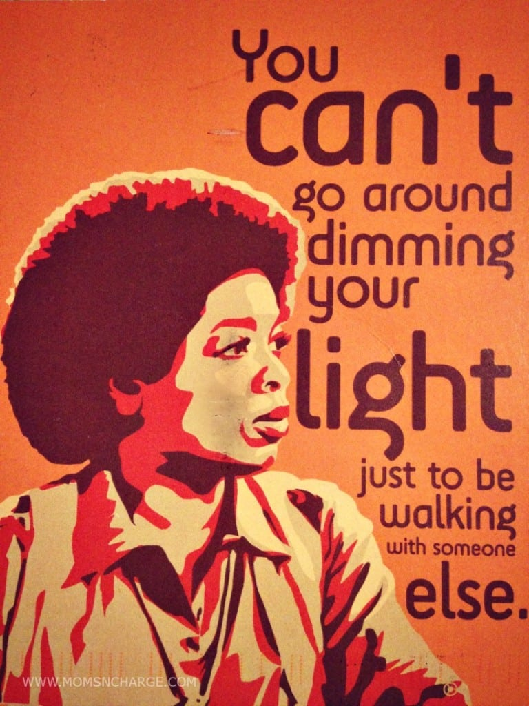 Oprah - don't dim your light quote