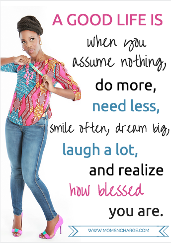 Blessed gratitude quote - Moms N Charge