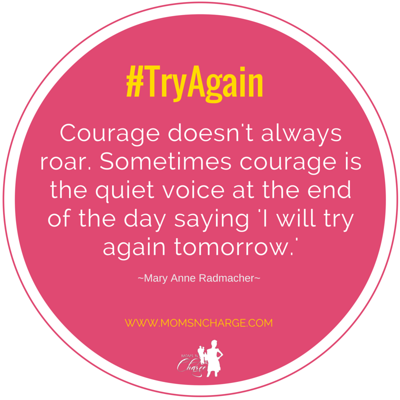 Courage quote #tryagain