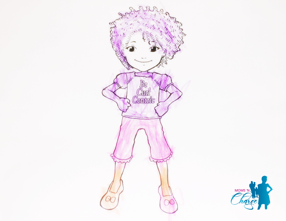 #BeCurlCentric Curly Girl coloring book 1