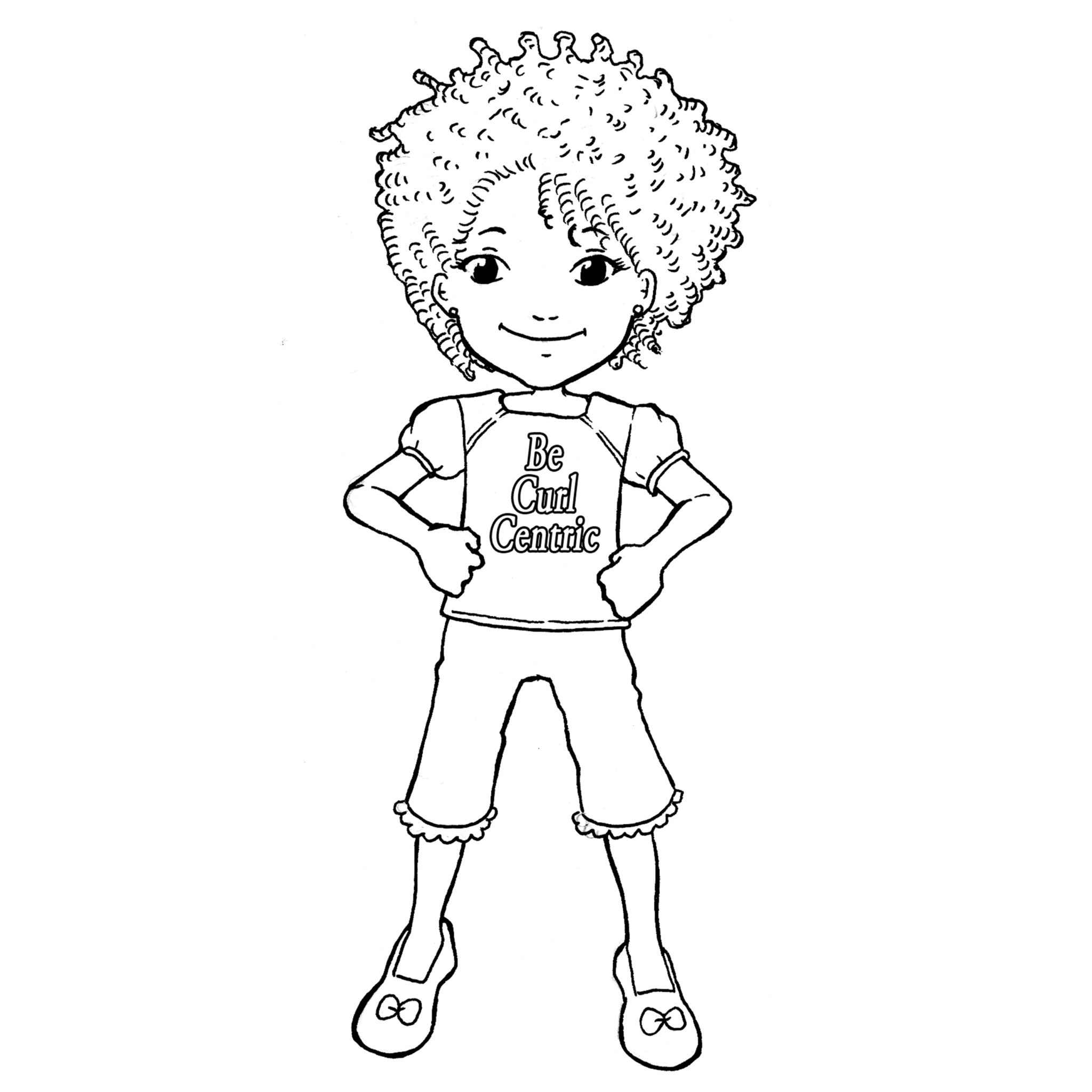 Three Girls Coloring Page