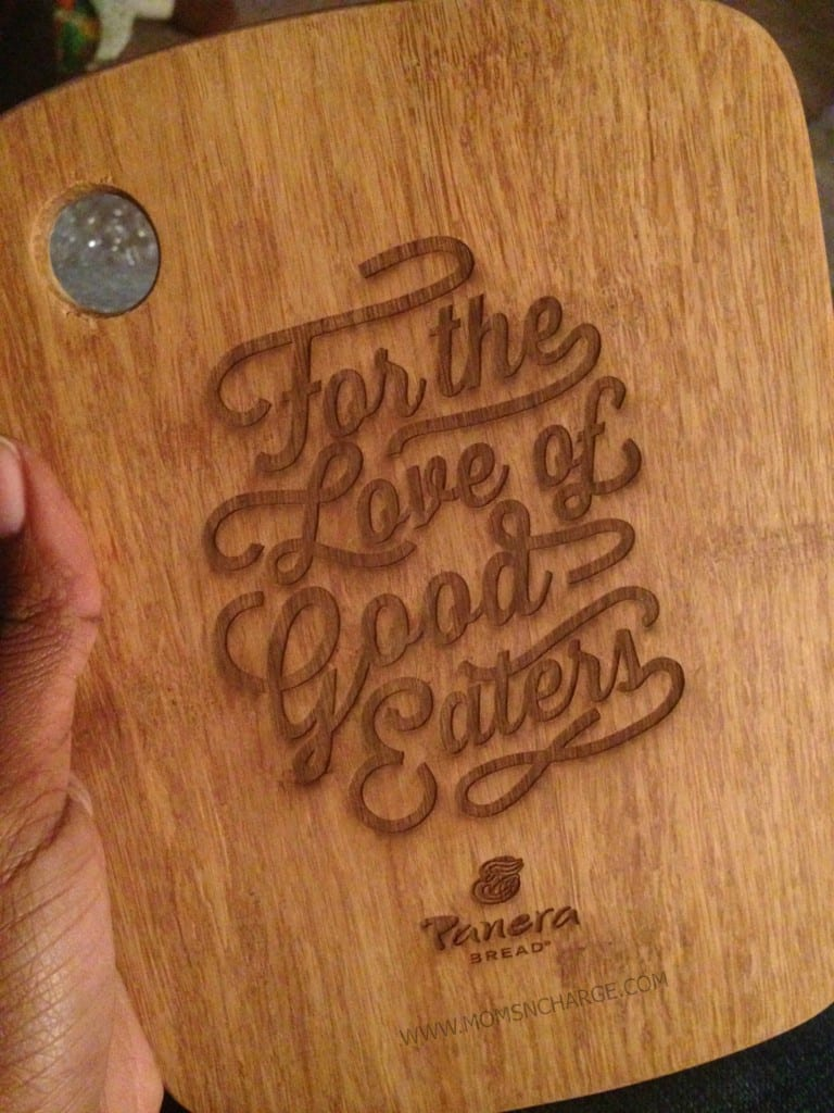 Panera Bread - cutting board - Moms N Charge