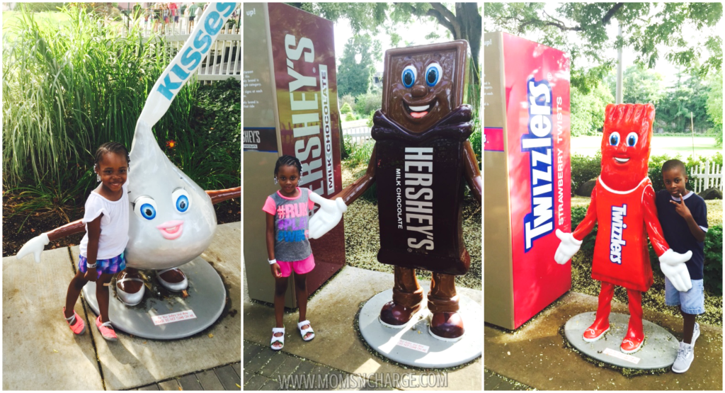 #HersheyPark - hershey statues - momsncharge