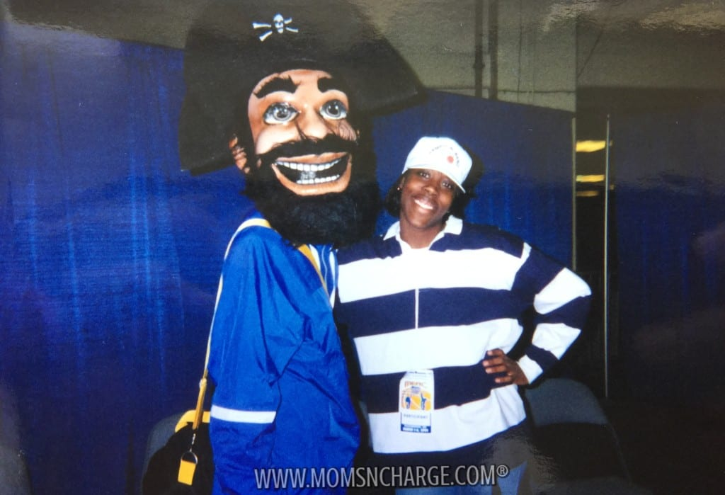With the Pirate Mascot (whom we later found out was Dallas King)