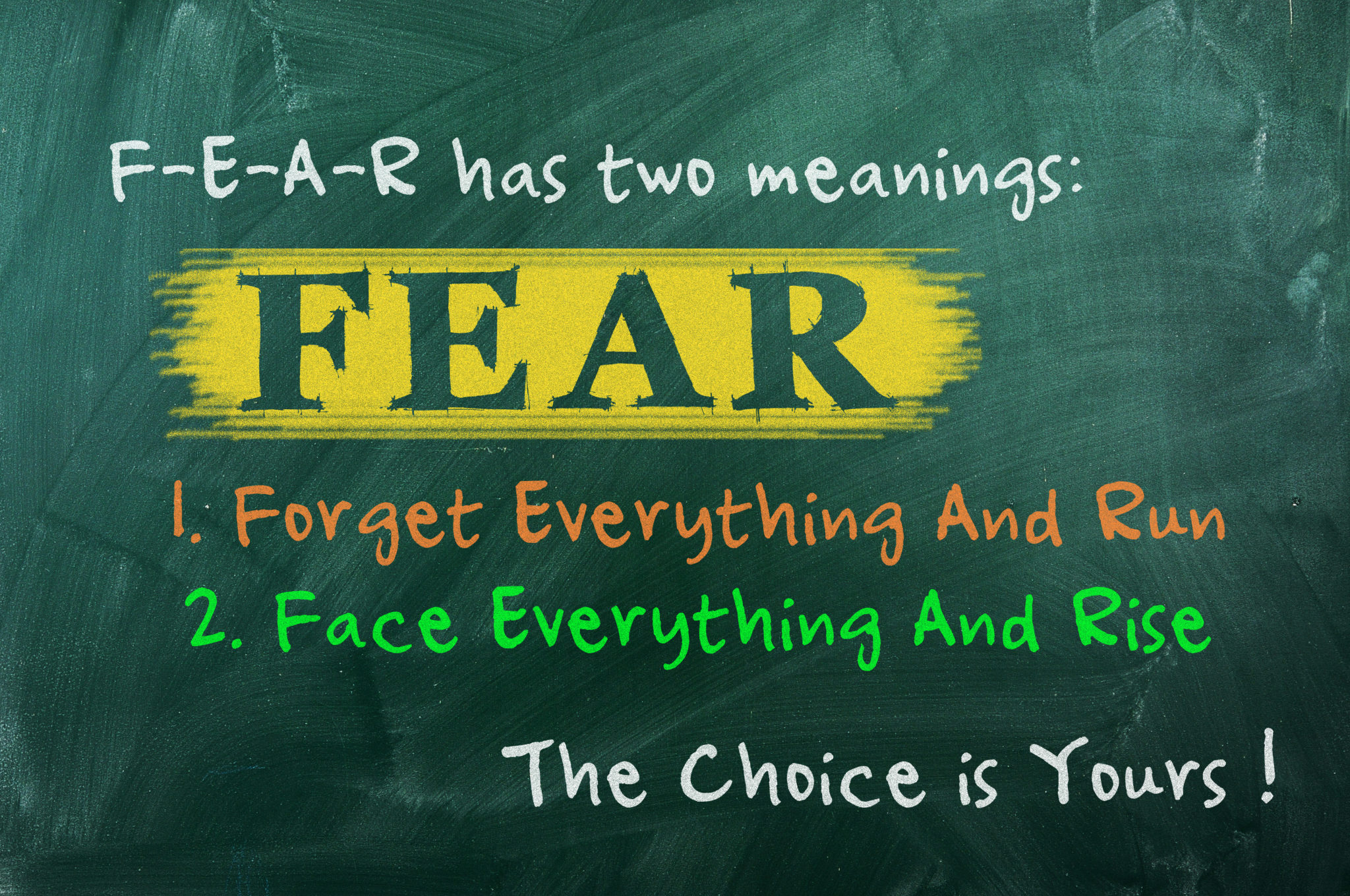 5 common fears and how to move past them moms n charge® fear acronym concept of bravery choice in life