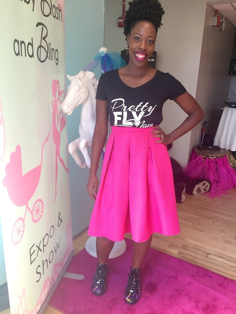 "Co-hosting the Baby, Bash & Bling Expo & Show in the ""Pretty FLY Mom"" tee"