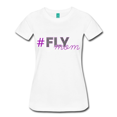 FLYmom - purple white short sleeve