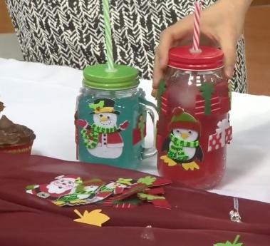 MomsNCharge - Thanksgiving mason jars craft