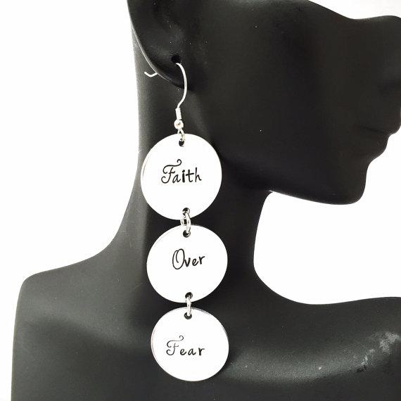 Faith Over Fear earrings