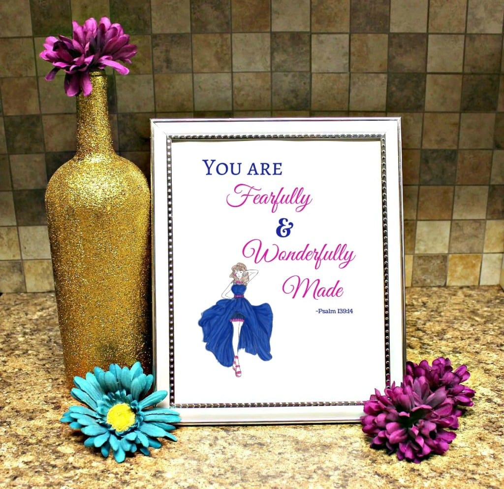 Fearfully made printable framed image