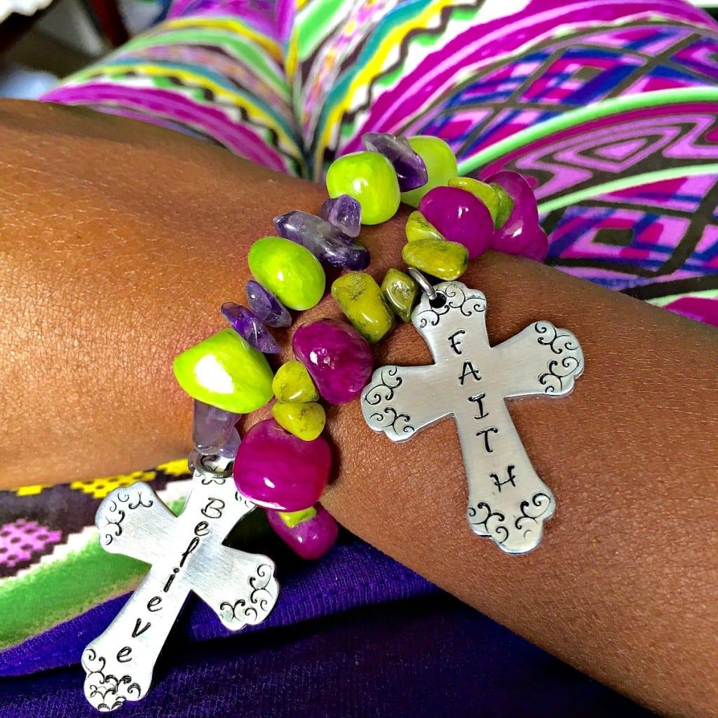 Wearing cross bracelets