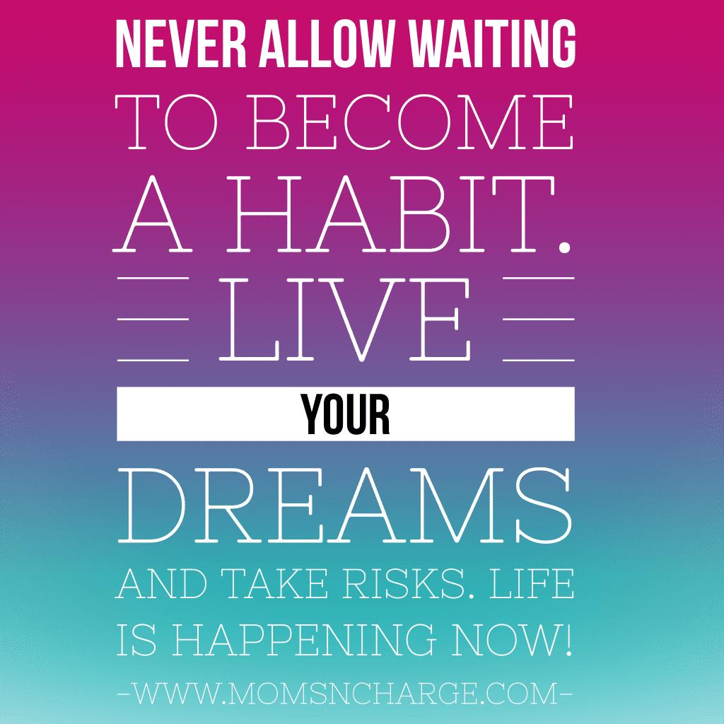 live life now quote