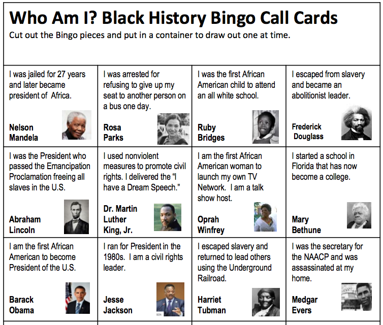 graphic about Black History Month Quiz Printable referred to as Black Background Thirty day period for Youngsters (Printables, Coloring Sheets