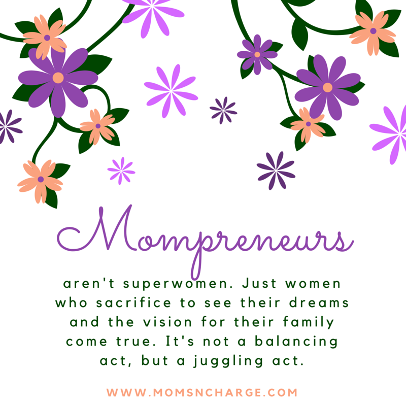 Mother's superwomen mompreneur