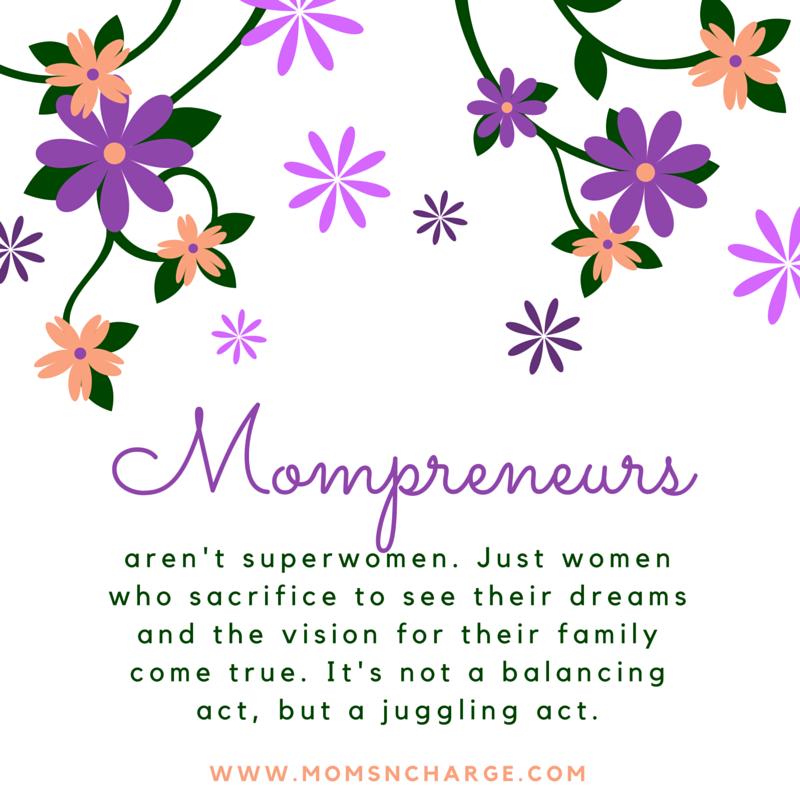 Mother's superwomen mompreneur