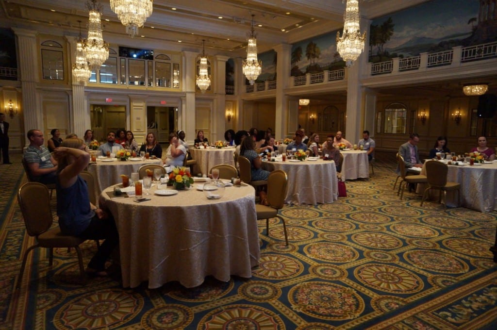 Inside the ballroom where we received the yummy lunch & deets on all the hottest tech gadgets for travel.
