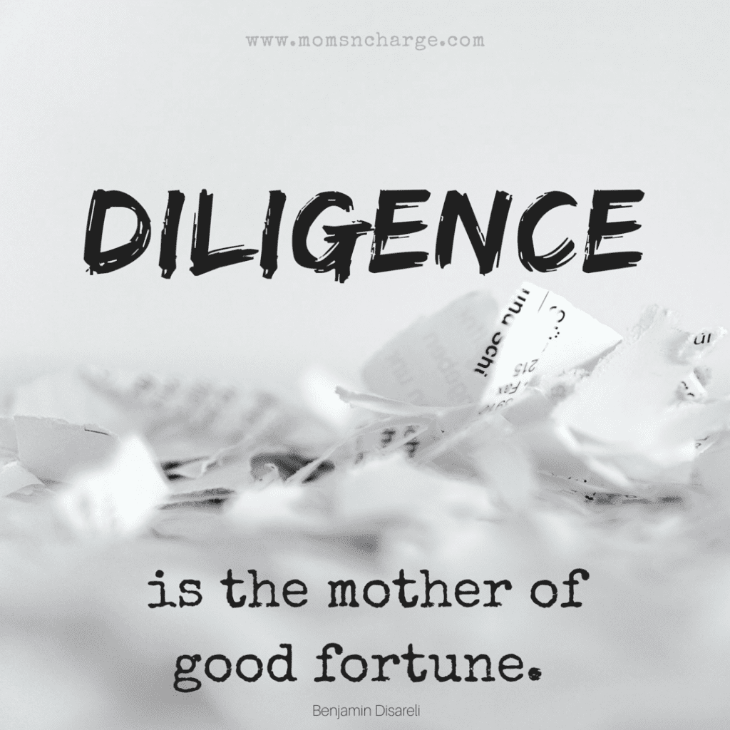 Diligence Quote