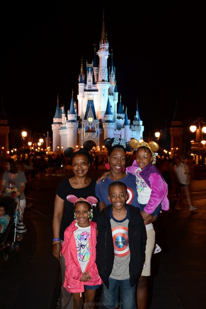 After a long day at the parks. The only way I could get baby girl to smile for more pics was by giving her a lift LOL