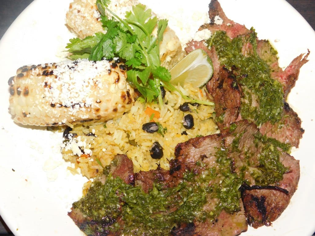 T's meal: Chimichurri Flank Steak