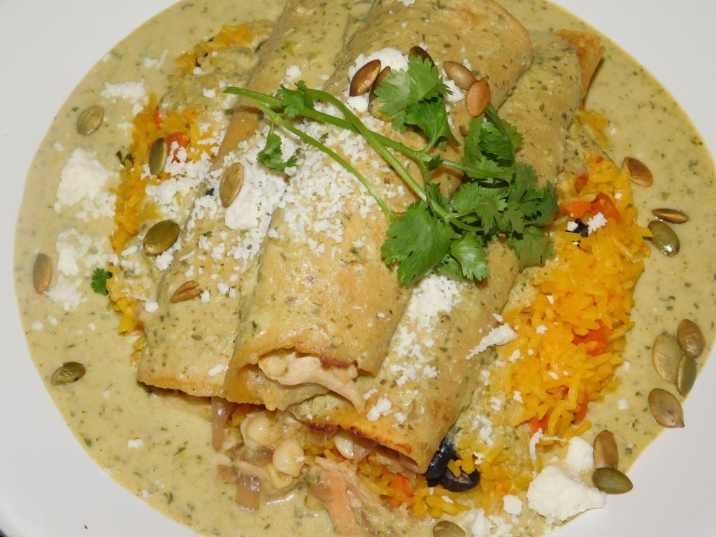 Mimi's meal: Chicken Enchilladas