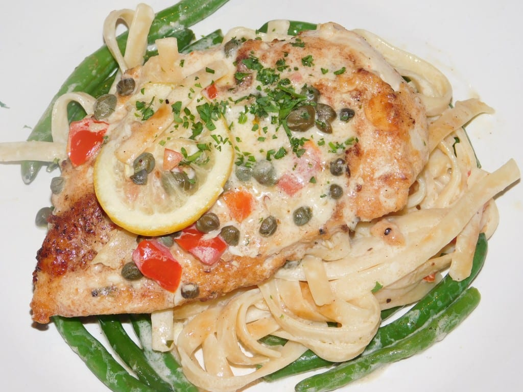 My meal: Chicken Piccata