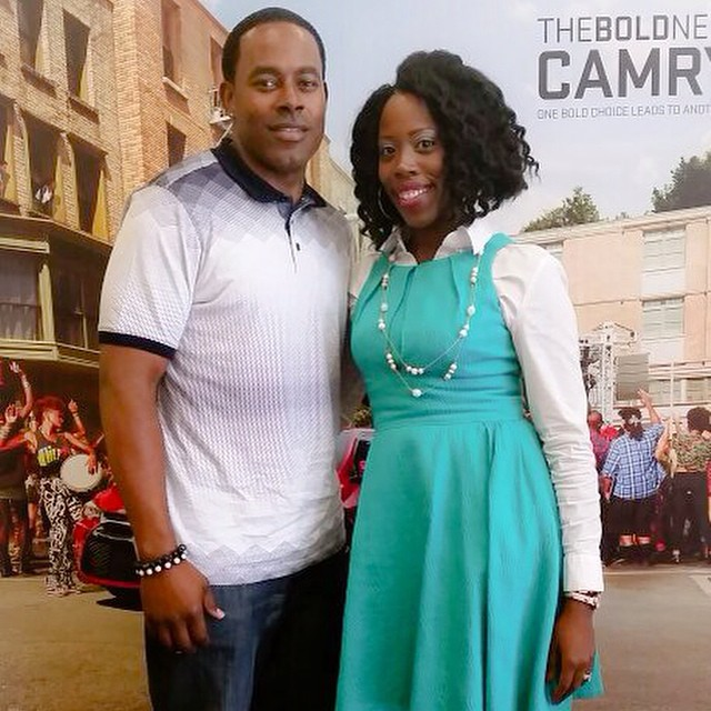 Me with Mr. Lamman Rucker and my DIY crochet hair at the 2014 Blogalicious Conference.