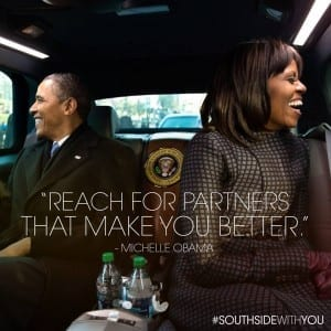 The Obamas #southsidewithyou