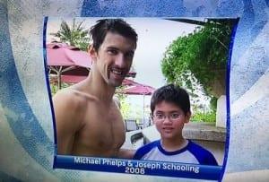Swimming Olympics Schooling Michael Phelps achieve