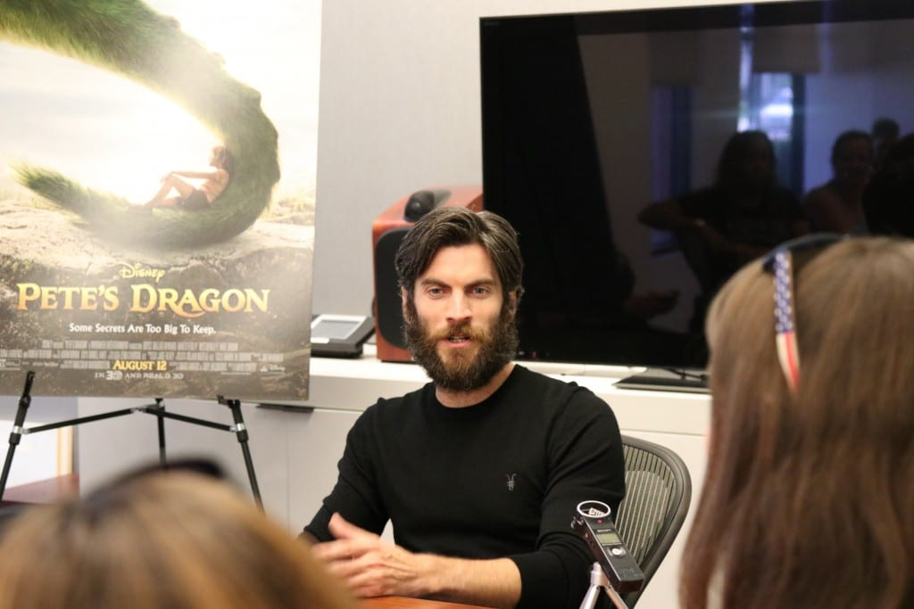Wes interviews with bloggers #PetesDragonEvent