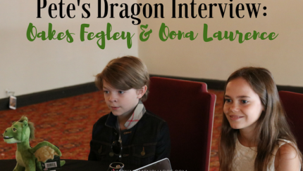 #petesdragonevent oona and oakes interview