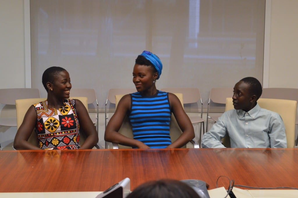 Madina Nawlanga, Lupita N'yong'o, Martin Kabanza (Photo credit: Carol Jones / AllMommyWants.com)