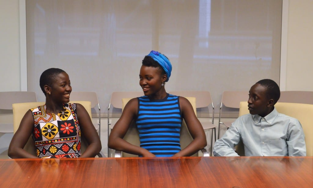 Madina Nawlanga, Lupita N'yong'o and Martin Kabanza (Photo credit: Carol Jones / AllMommyWants.com)