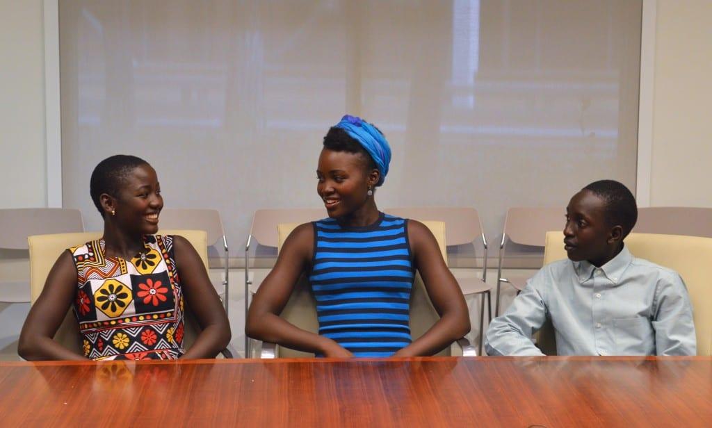 Madina Nawlanga, Lupita N'yong'o and Martin Kabanza (Photo credit: Carol Jones / AllMommyWants.com)