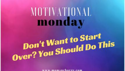 Don't start over