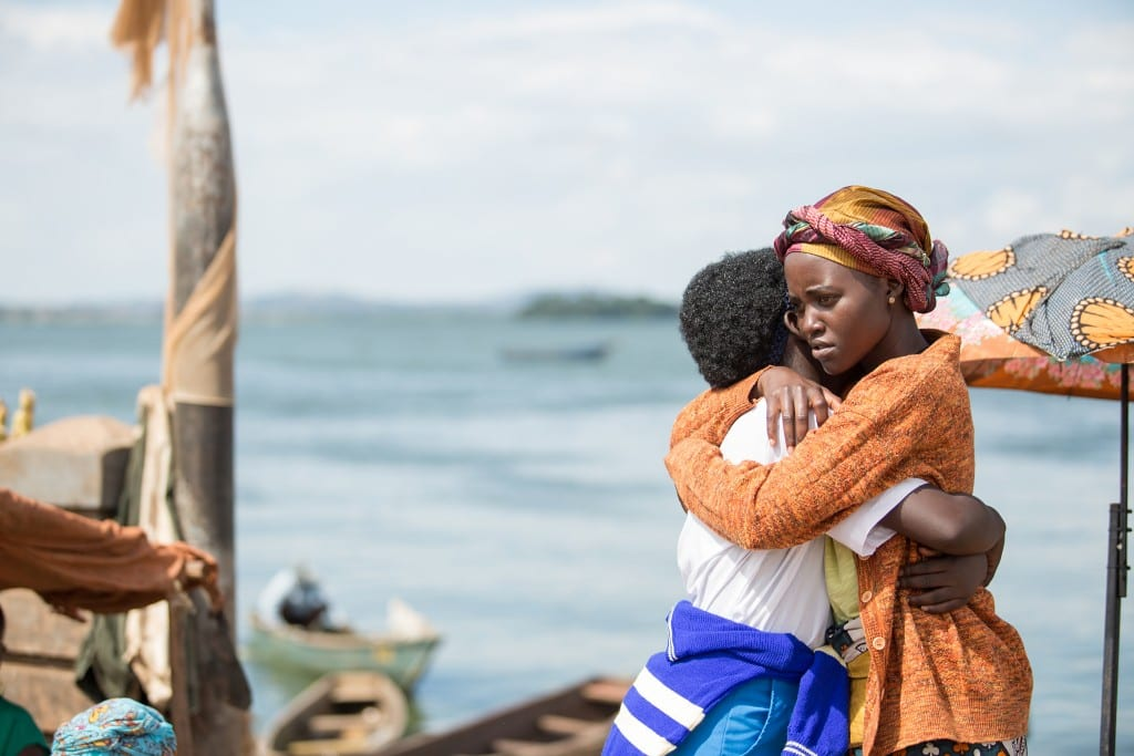 Oscar (TM) winner Lupita Nyong'o and newcomer Madina Nalwanga in Disney's QUEEN OF KATWE, the vibrant true story of a young girl from the streets of rural Uganda whose world rapidly changes when she is introduced to the game of chess. The powerful film, which also stars David Oyelowo and is directed by Mira Nair, will be released in U.S. theaters in September.