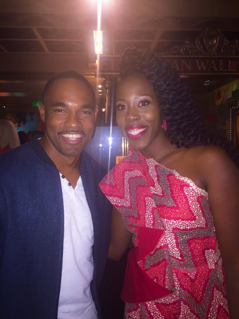 Jason George and I after the premiere (Hey Dr. Warren!)