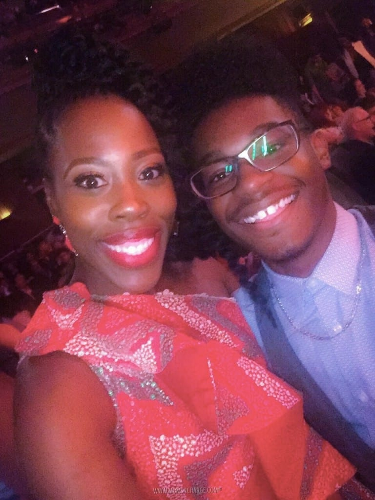 Kamil McFadden and I during the movie premiere.