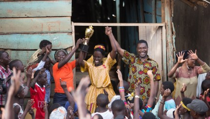 Oscar (TM) winner Lupita Nyong'o is Harriet Mutesi, David Oyelowo is Robert Katende and Madina Nalwanga is Phiona Mutesi in Disney's QUEEN OF KATWE, the vibrant true story of a young girl from the streets of rural Uganda whose world rapidly changes when she is introduced to the game of chess. The film is directed by Mira Nair.