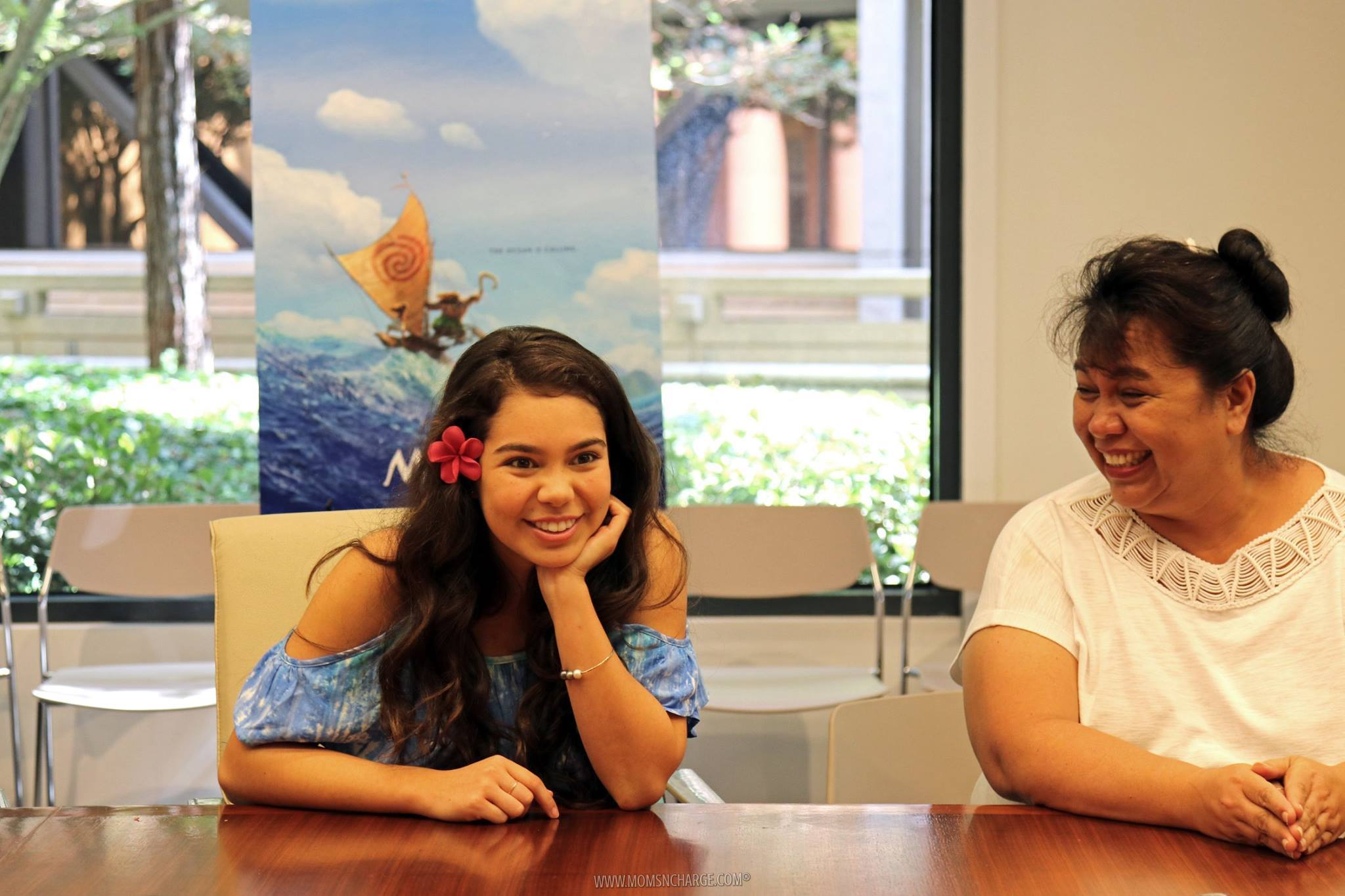The beautiful Moana Star, Auli'i and her mom Puanani Cravalho Photo credit: Jana Seitzer / MerlotMommy.com