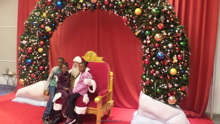 My kids loved taking pics with Santa and telling him what they wanted for Christmas